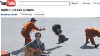 United Breaks Guitars video on YouTube
