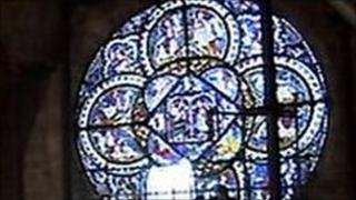 South Oculus window at Canterbury Cathedral