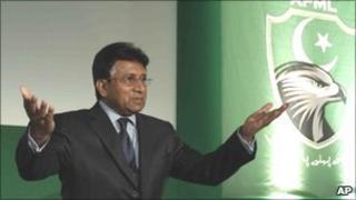 Pervez Musharraf in London, 1 Oct