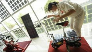 A solar powered bicycle under developmet in China