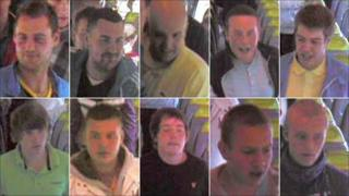 CCTV images of the 10 men police want to interview
