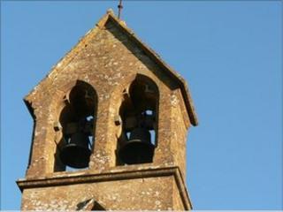 The belfry of a rural church