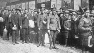 World War I recruitment in Edinburgh