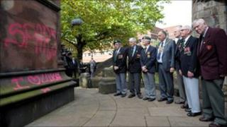 War veterans at the Cenotaph (Pic courtesy of Express and Star)