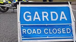 Garda accident sign