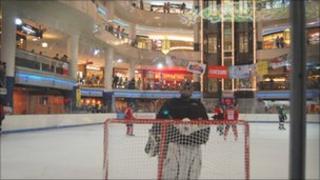 Malaysia's only ice rink - at the Sunway Pyramid shopping centre in Petaling Jaya city