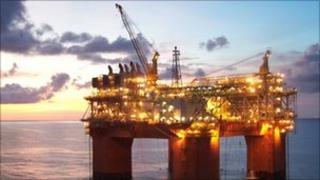 Deep water oil rig in the Gulf of Mexico