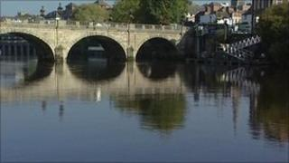 View of the River Severn at Shrewsbury