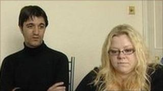 Edmond Arapi and his wife Georgina - archive image