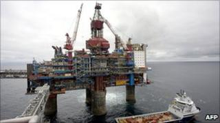 North Sea gas platform - file pic