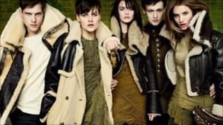 Models in Burberry