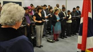 Citizenship ceremony in Ealing