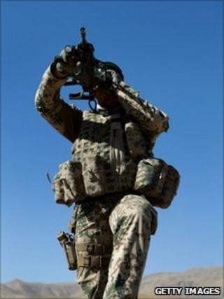 Isaf soldier in Afghanistan