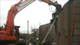 Demolition of houses in barrow