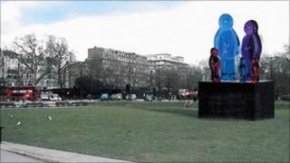 Jelly Babies sculpture artists impression