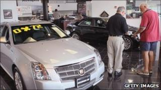 Car showroom in the US