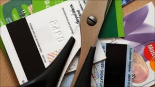 Cut up credit cards