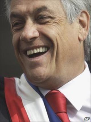 Sebastian Pinera in Santiago, Chile (18 Sept 2010)
