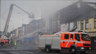 Fire on King Street, Blackburn