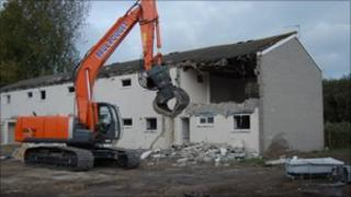 Final phrase of demolition at the Grand Bouet Estate in Guernsey