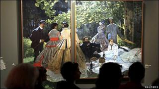 Monet painting at Le Grand Palais