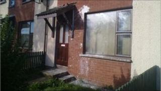 The man was shot at a house in the Carnhill area of Londonderry