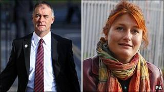 Tommy Sheridan and Katrine Trolle