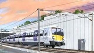 Artists' impression of Crossrail project
