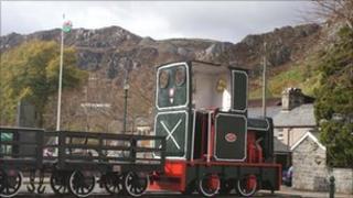 Former quarry wagon in Blaenau Ffestiniog
