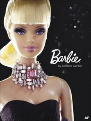 The Barbie created by designer Stefano Canturi
