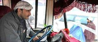 Kabul bus driver