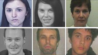Clockwise from top left - Nicole Vosper, Nicola Tapping, Sarah Whitehead, Alfie Fitzpatrick, Jason Mullan and Thomas Harris