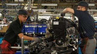 Workers at the Nissan factory in Sunderland