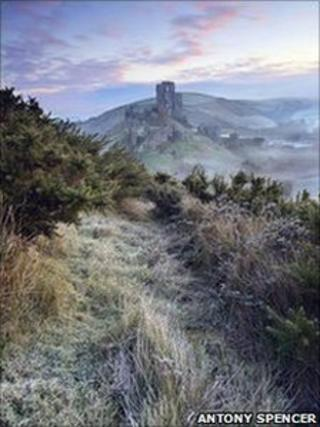 The image of Corfe Castle that won this year's Landscape Photographer of the Year award
