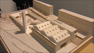 Model of new Edinburgh Sculpture Workshop venue
