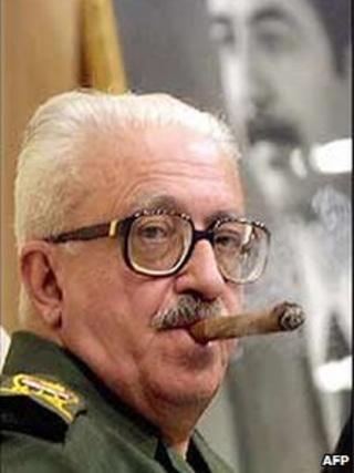 Former Iraqi Deputy Prime Minister Tariq Aziz. Archive picture