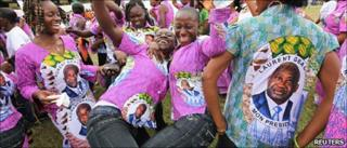 Supporters of Laurent Gbagbo