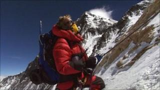 Climber in the BBC series Everest ER (file photo, Indus Films)
