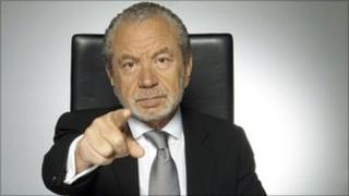 """Lord Sugar in """"You're fired"""" mode"""