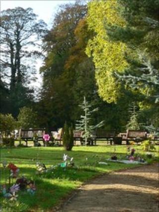 Chorley cemetery's baby garden