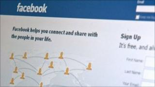 Facebook login page, AFP/Getty