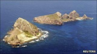 Aerial view of part of the disputed islands in the East China Sea, known as the Senkaku isles in Japan and Diaoyu in China - 29 September 2010