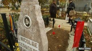 Grave of Nicolae Ceausescu in Bucharest