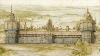 Painting of Nonsuch Palace