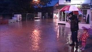 Flooding in Tenbury