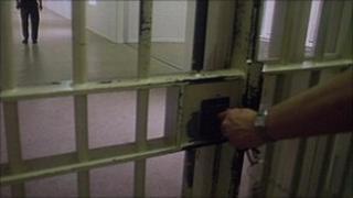 Prison gate and lock