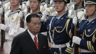 General Than Shwe on a visit to China in September