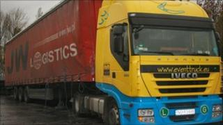 The lorry Bogdan Bartczak was driving