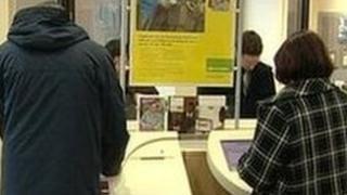 Jobseekers in the job centre