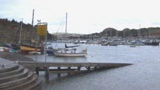 The current jetty in the harbour at Conwy